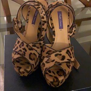 BRAND NEW Ralph Lauren Leopard Platform Heels